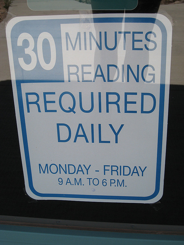 Presidio Public Library sign
