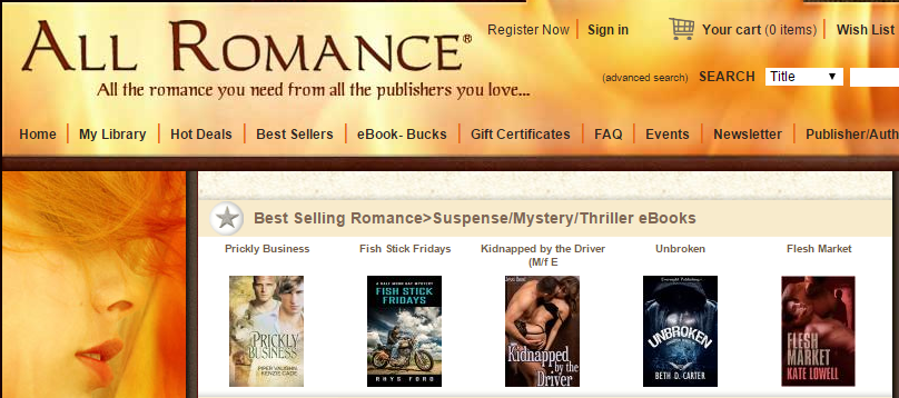 All romance best selling